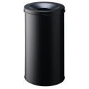 Kosz na śmieci Durable Safe 60l - metalowy - czarny
