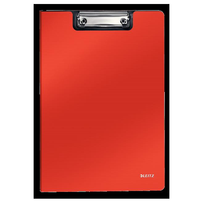 Deska z klipsem i okładką Leitz Solid A4 - jasnoczerwona
