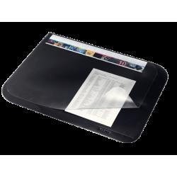 Mata z przezroczystą folią 500 x 650 mm - czarna