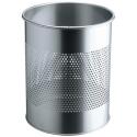 Kosz na śmieci Durable 15l - metalowy - srebrny