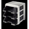 Moduł na trzy półki Leitz Plus - czarny