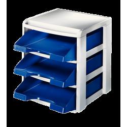 Moduł na trzy półki Leitz Plus - niebieski