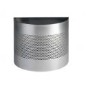 Kosz na śmieci Durable 20l - metalowy - srebrny