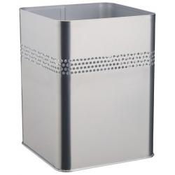 Kosz na śmieci metalowy - srebrny