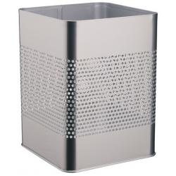 Kosz na śmieci Durable 18,5l - metalowy - srebrny