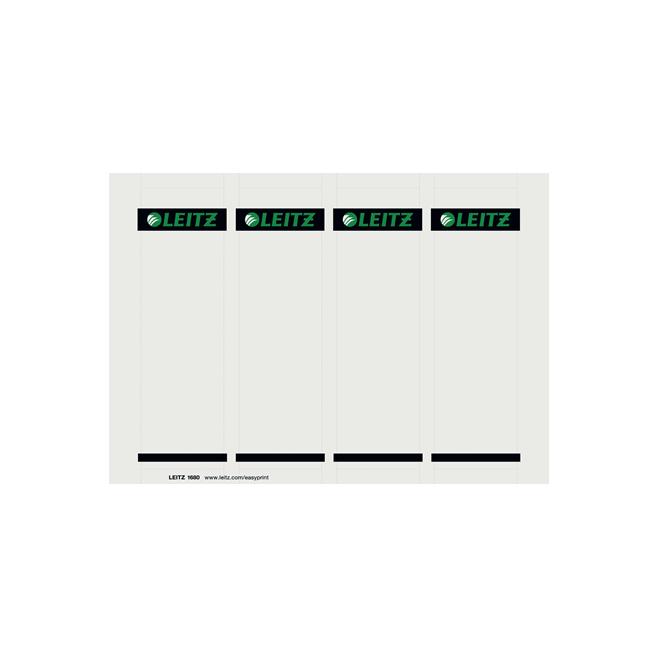 Etykiety grzbietowe Leitz 56x190/100szt. do zadruku