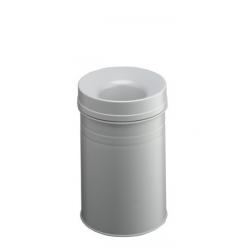 Kosz na śmieci Durable Safe+ 15l - metalowy - jasnoszary
