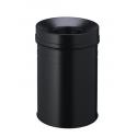 Kosz na śmieci Durable Safe+ 15l - metalowy  - czarny