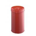 Kosz na śmieci Durable Safe+ 30l - metalowy  - czerwony