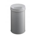 Kosz na śmieci Durable Safe+ 30l - metalowy - jasnoszary