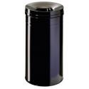 Kosz na śmieci Durable Safe+ 30l - metalowy - czarny