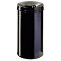 Kosz na śmieci Durable Safe+ 60l - metalowy - czarny