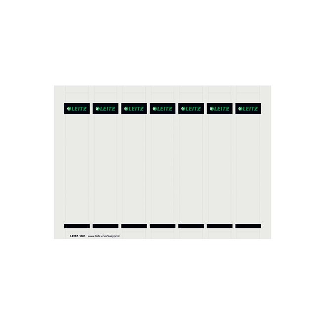 Etykiety grzbietowe Leitz 31x190/175szt. do zadruku