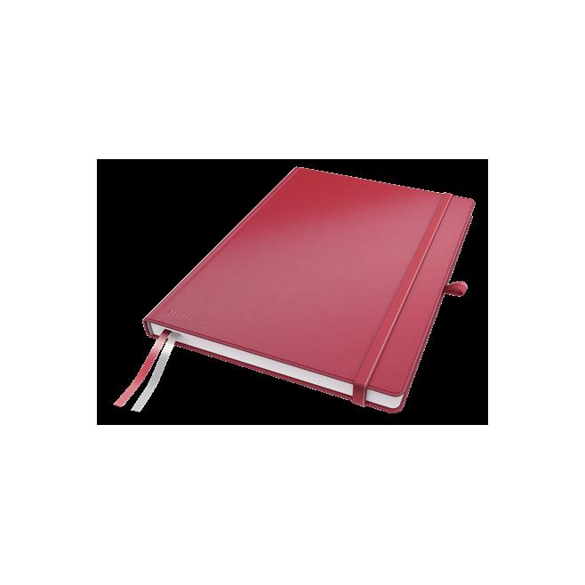 Notatnik Leitz Complete A4 w kratkę, oprawa twarda - czerwony