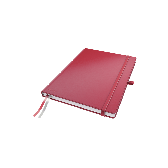 Notatnik Leitz Complete A4 w linię, oprawa twarda - czerwony