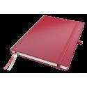 Notatnik Leitz Complete A4 w linie, oprawa twarda - czerwony