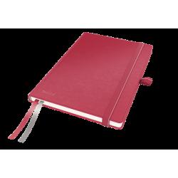 Notatnik Leitz Complete A5 w kratkę, oprawa twarda - czerwony