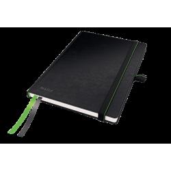 Notatnik Leitz Complete A5 w kratkę, oprawa twarda - czarny