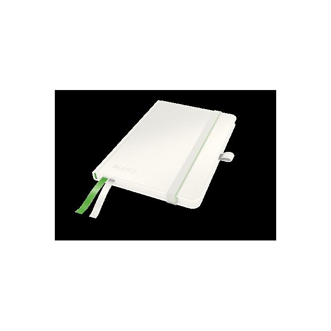 Notatnik Leitz Complete A6 w kratkę, oprawa twarda - biały