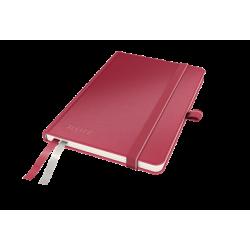 Notatnik Leitz Comlete A6 w kratkę, oprawa twarda - czerwony