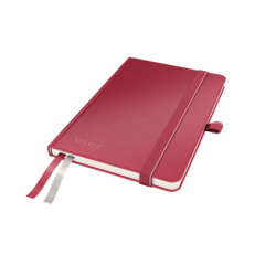Notatnik Leitz Complete A6 w linie, oprawa twarda - czerwony