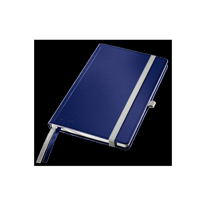Notatnik Leitz Style A5 w kratkę, oprawa twarda - niebieski