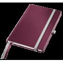 Notatnik Leitz Style A5 w kratkę, oprawa twarda - ciemnoczerwony