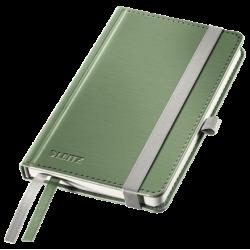 Notatnik Leitz Style A6 w kratkę, oprawa twarda - seledynowy