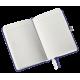 Notatnik Leitz Style A6 w kratkę, oprawa twarda - niebieski