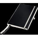 Notatnik Leitz Style A5 w kratkę, oprawa miękka - czarny
