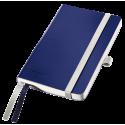 Notatnik Leitz Style A6 w kratkę, oprawa miękka - niebieski