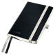 Notatnik Leitz Style A6 w kratkę, oprawa miękka - czarny