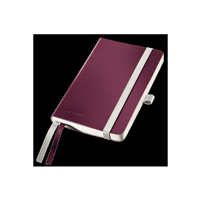 Notatnik Leitz Style A6 w kratkę, oprawa miękka - ciemnoczerwony