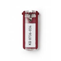 Zawieszki do kluczy KEY CLIP - czerwony