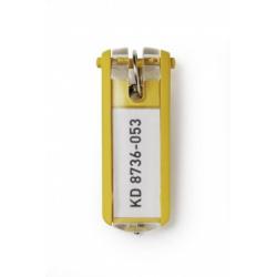 Zawieszki do kluczy KEY CLIP - żółty