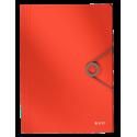 Teczka z gumką PP Leitz Solid 15 mm, A4 - jasnoczerwona