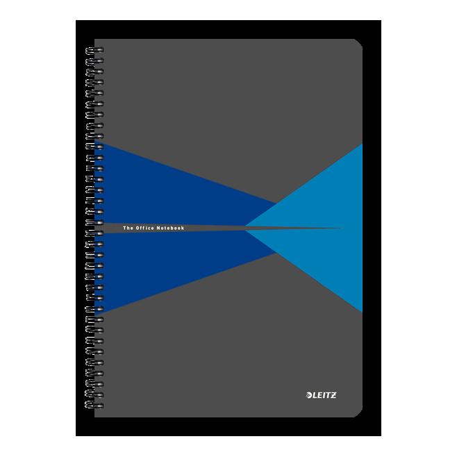 Kołonotatnik Leitz Office A4 w kratkę - szaro-niebieski