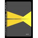 Kołonotatnik Leitz Office A4 w kratkę - szaro-żółty