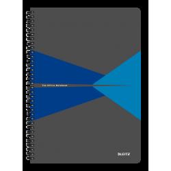 Kołonotatnik Leitz Office A4 w linie - szaro-niebieski