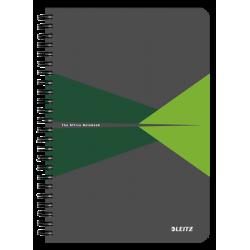Kołonotatnik Leitz Office A5 w kratkę - szaro-zielony