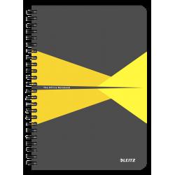 Kołonotatnik Leitz Office A5 w kratkę - szaro-żółty