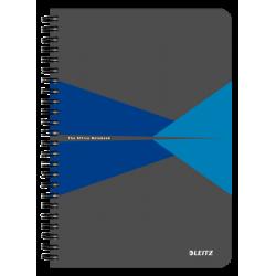 Kołonotatnik Leitz Office A5 w linie - szaro-niebieski