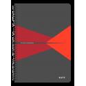 Kołonotatnik Leitz Office A4 PP, w kratkę - szaro-czerwony