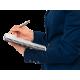 Kołonotatnik Leitz Office A4 PP, w kratkę - szaro-niebieski