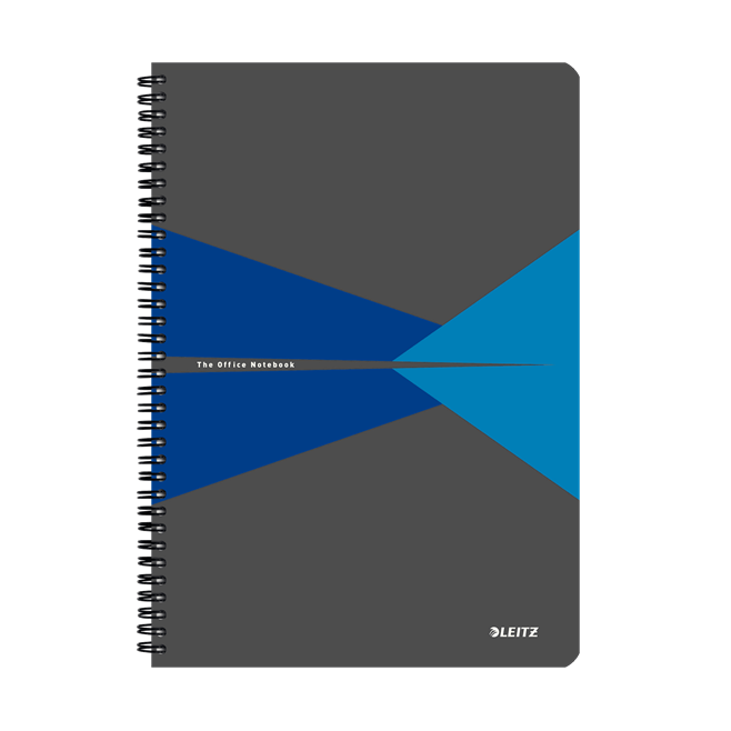 Kołonotatnik Leitz Office A4 PP, w linie - szaro-niebieski