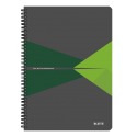 Kołonotatnik Leitz Office A4 PP, w linie - szaro-zielony