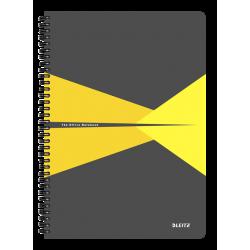 Kołonotatnik Leitz Office A4 PP, w linie - szaro-żółty