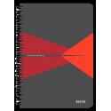 Kołonotatnik Leitz Office A5 PP, w kratkę - szaro-czerwony