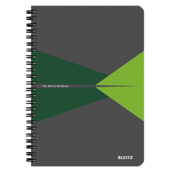 Kołonotatnik Leitz Office A5 PP, w kratkę - szaro-zielony
