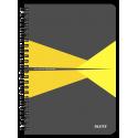 Kołonotatnik Leitz Office A5 PP, w kratkę - szaro-żółty